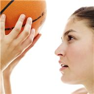 Girll with basketball