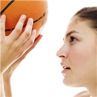 Girll with basketball